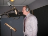 In the Studio filming a Commercial